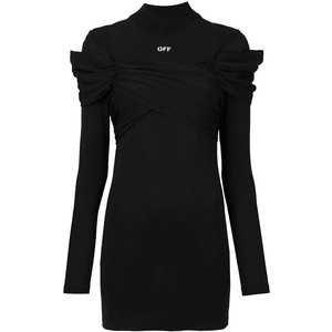 draped jersey mini dress