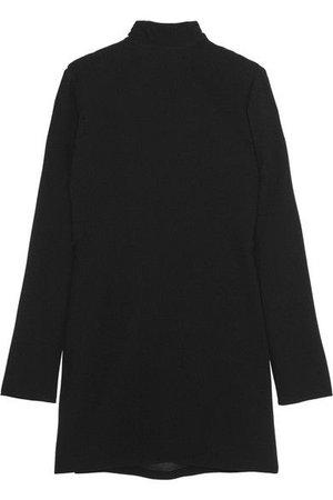 SAINT LAURENT BLACK SWEATER DRESS
