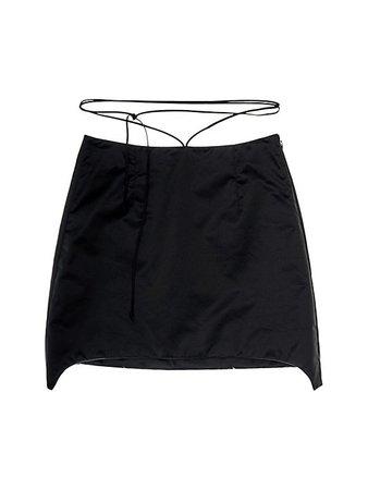 Shop Helmut Lang Satin Mini Skirt up to 70% Off | Saks Fifth Avenue