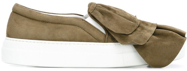 Layered Slip-On Sneakers