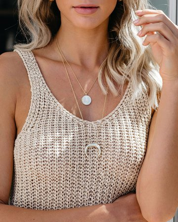 Gorjana - Cayne Crescent Pendant Necklace – VICI
