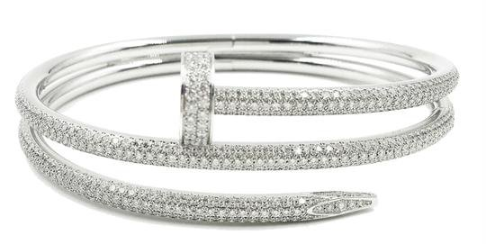 Cartier Juste Un Clou White Gold Diamonds Bracelet - Tradesy