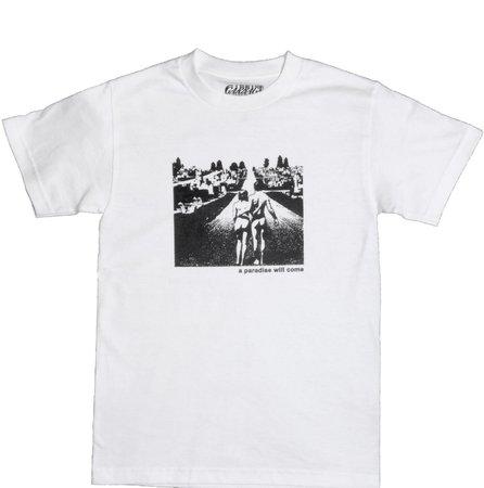 white tee shirt from garbage
