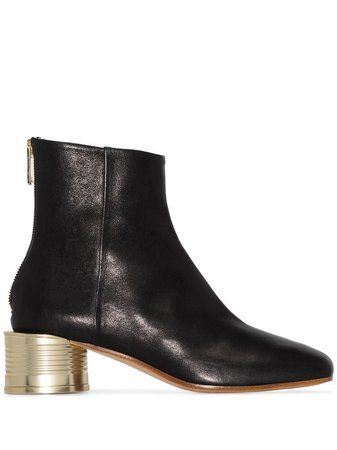 MM6 Maison Margiela 50mm Leather Ankle Boots - Farfetch