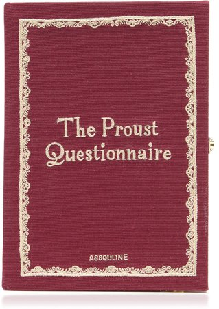 Olympia Le-Tan The Proust Questionnaire Embroidered Book Clutch