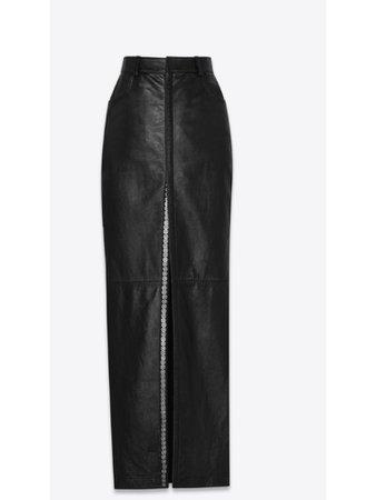Yves Saint Laurent Snap Button Slit Skirt