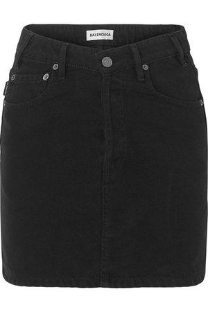 Balenciaga | Denim mini skirt | NET-A-PORTER.COM