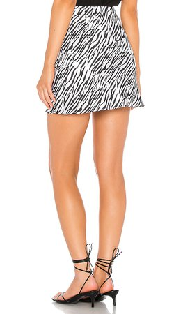 REVOLVE black and white animal print mini skirt