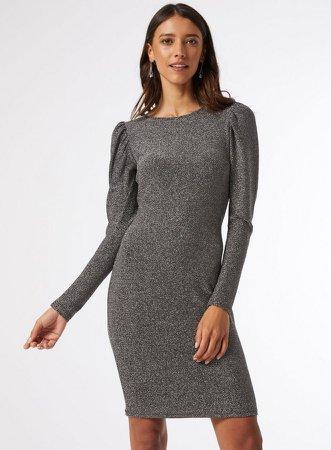 Silver Bodycon Mini Dress
