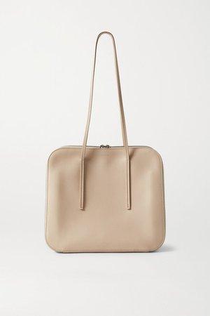Tr3 Leather Shoulder Bag - Beige