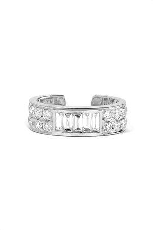 Anita Ko | 18-karat white gold diamond ear cuff | NET-A-PORTER.COM
