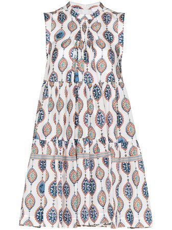 Chloé ceramic-print Tiered Mini Dress - Farfetch