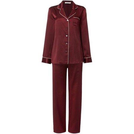 Ginia Silk long sleeve and pant pyjama set ($290)