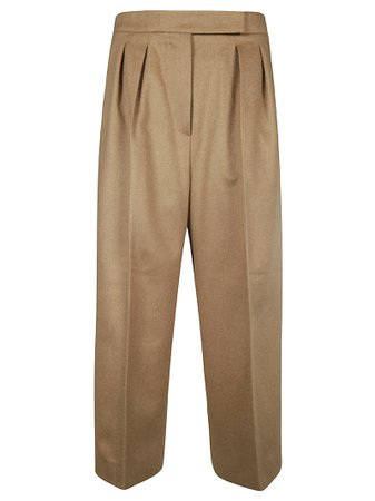 Max Mara Wide Fit Cropped Trousers