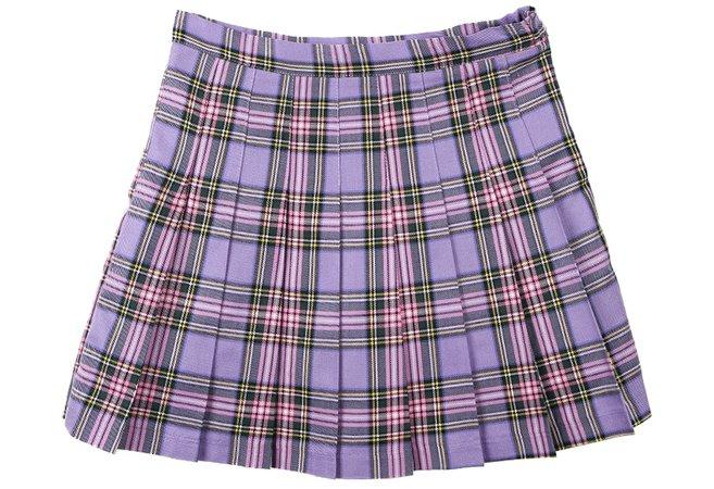 Ins hot streetwear korean kpop preppy style purple plaid skirt cute kawaii pleated mini short high waist skirt women|Skirts| | - AliExpress