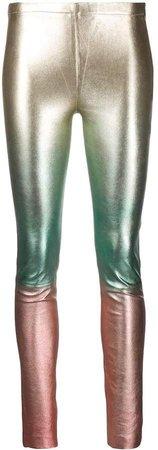 Zadig&Voltaire metallic colour block leggings