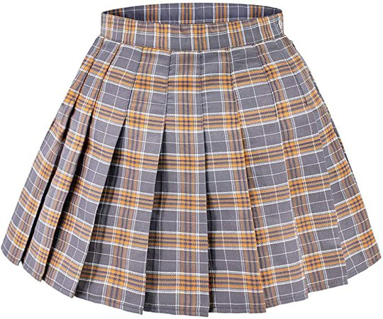 DAZCOS US Size 0-22 Plaid Skirt High Waist Japan School Skirts with Shorts for Women at Amazon Women's Clothing store