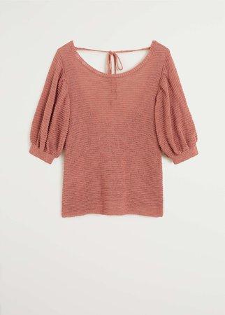 Textured knit top - Women   Mango USA red