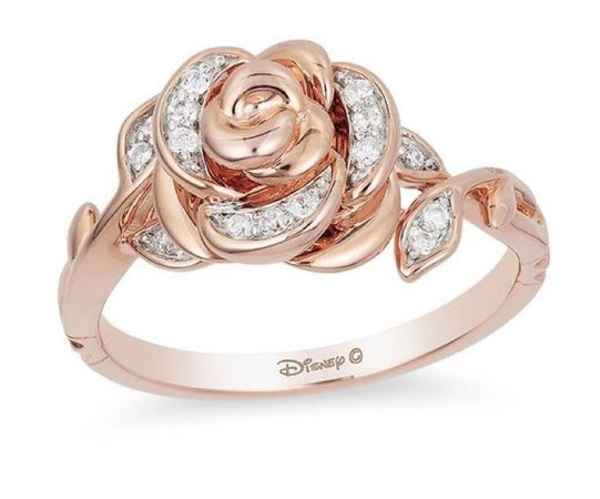 Disney Rose Gold Beauty and the Beast Rose Ring