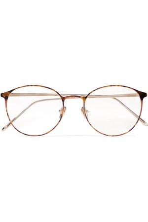 Linda Farrow | Round-frame tortoiseshell acetate and gold-tone optical glasses | NET-A-PORTER.COM