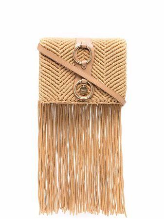 Shop See by Chloé fringed-detail crossbody bag