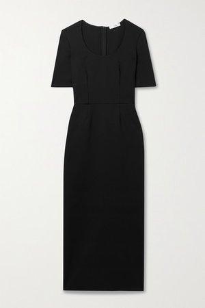 Calama Stretch-scuba Midi Dress - Black