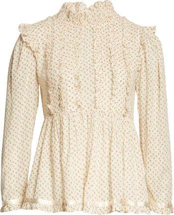 byTiMo Puff Sleeve Ruffle Bohemian Top | Nordstrom