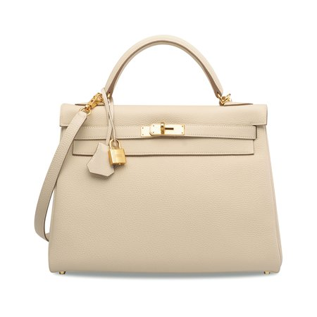 CRAIE TOGO LEATHER RETOURNÉ KELLY 32 BAG WITH GOLD HARDWARE