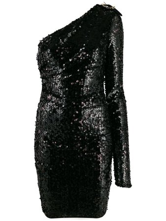 VERSACE JEANS COUTURE sequinned one-shoulder dress