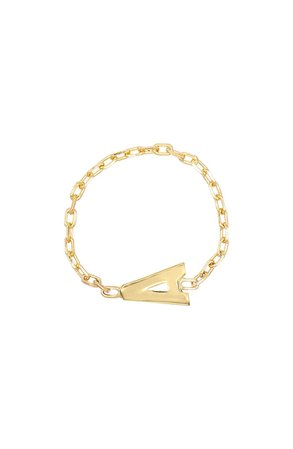 Adina's Jewels Initial Chain Ring | Nordstrom