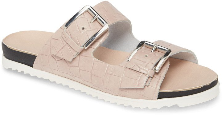 Lonnie Croc Embossed Sandal
