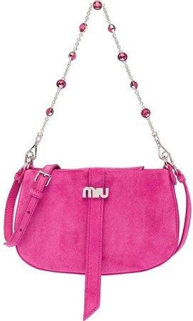 embellished-strap shoulder bag