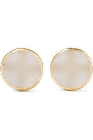 1064 Studio | Colors of Shadow gold-plated and acrylic earrings | NET-A-PORTER.COM