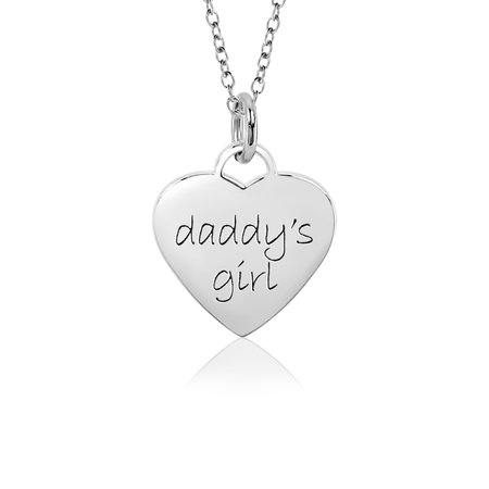 daddys girl necklace silver