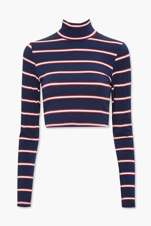 Striped Turtleneck Top | Forever 21