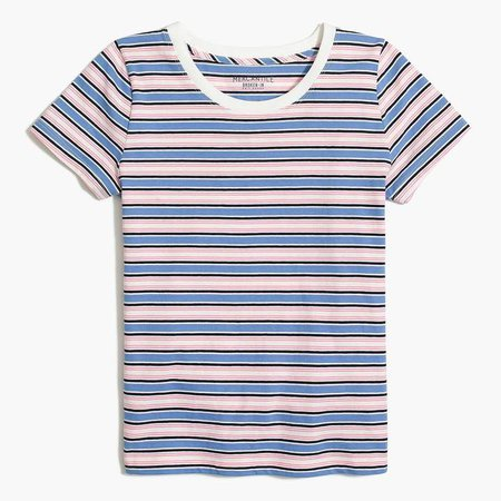 Broken-in T-shirt in stripes