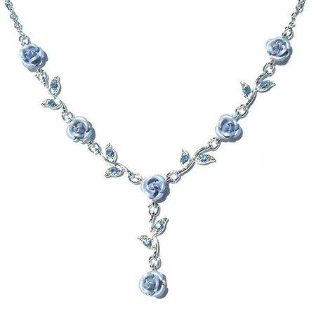 Swarovski Crystal Baby Blue Rose Flower Floral Charm Pendant | Etsy