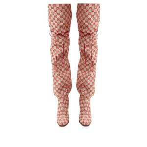 GG canvas over-the-knee boots | Gucci