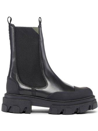 GANNI chunky leather Chelsea boots - FARFETCH