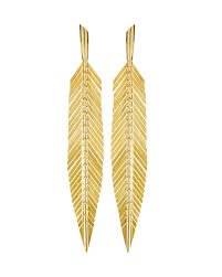 gold feather earrings - Google Search