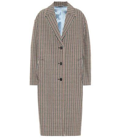 Checked Wool-Blend Coat - Acne Studios   Mytheresa