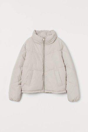 Boxy Puffer Jacket - Brown