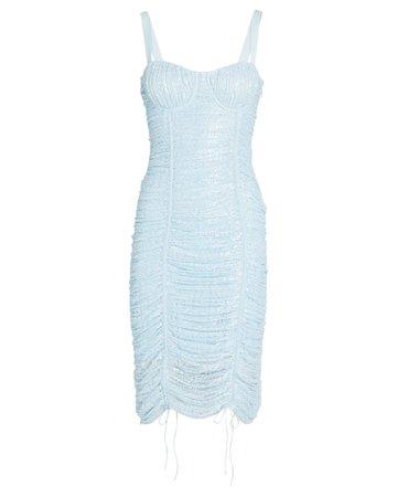 Jonathan Simkhai Naia Ruched Midi Dress   INTERMIX®