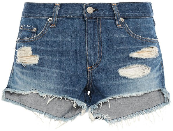 Freeport Distressed Denim Shorts