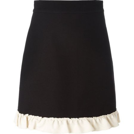 Gucci Ruffle Trim A-line Skirt