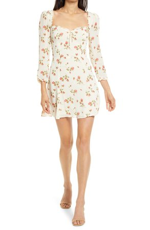 Reformation Remi Floral Long Sleeve Minidress | Nordstrom