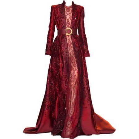 Dark Red Gown