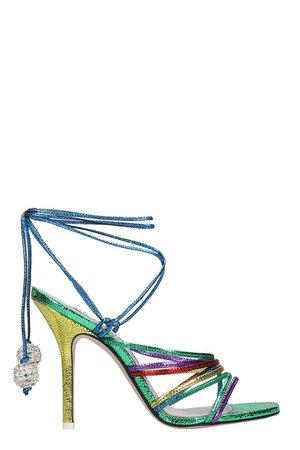 The Attico Fiona Sandals In Multicolor Leather