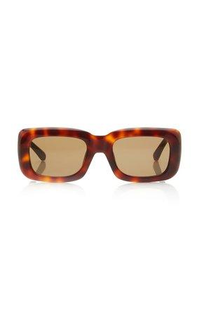 Marfa Square-Frame Tortoiseshell Acetate Sunglasses By The Attico   Moda Operandi