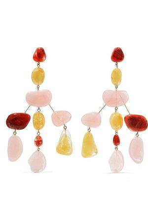 Cult Gaia | Sloane Rock oversized acrylic earrings | NET-A-PORTER.COM